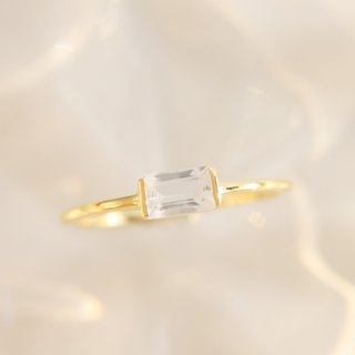 3: am La Forme - 18K Gilt Topaz Silver Ring Gold