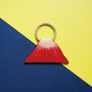 Mountain Veins // Flaming Mountain Keychain - Hand-dyed Italian leather