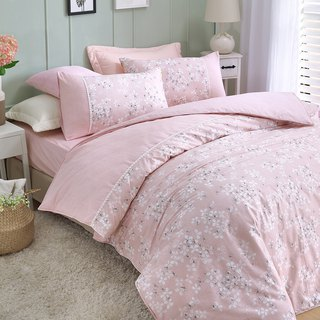 Extra large [falls in love with a small flower bed] Drifting snow (powder) dual-purpose bedding package four-piece King size