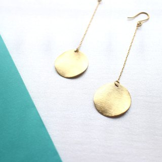 Wishes-Brass earrings