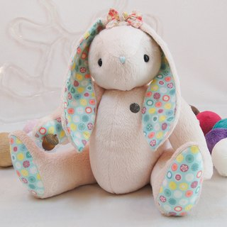 Rabbit Greek rabbit can be apricot peach 50cm custom color and embroidered word finished