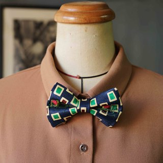 Papa's Bow Tie-Antique Cloth Belt Rebirth Hand Bowling - Prague Gentleman - Red Rose Edition
