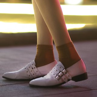 White Buckle high heels 3.0