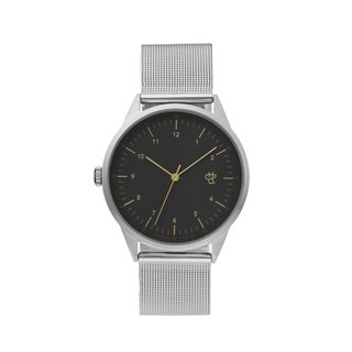 Swedish brand - Nuno series silver dark grey dial - Silver Milan with adjustable watch