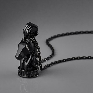 Knight chess necklace