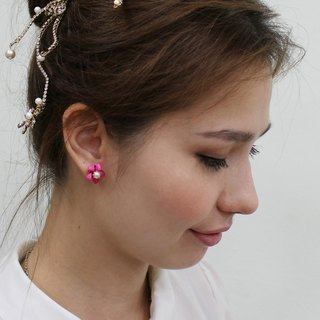 Flower dance earrings