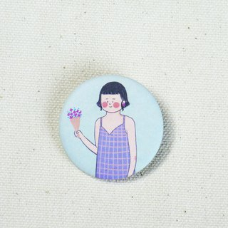 Purple girl / badge