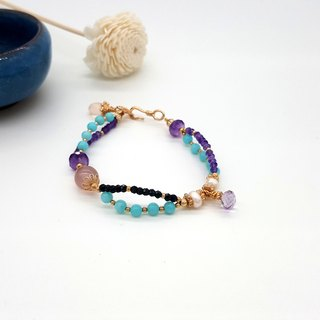 Girl Crystal World - Princess's Mint Green [Tianhe Stone] hand made natural crystal bracelet
