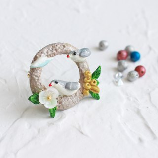 Birds Polymer Caly Brooch I Story_Forest daily