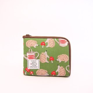 Ticket card coin purse <garden small hedgehog>