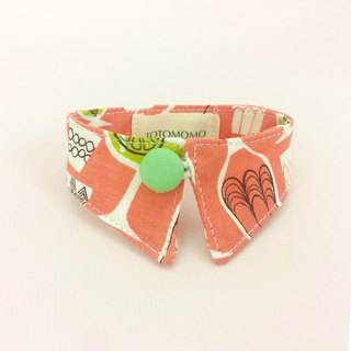 Juice cup dog cat button collar