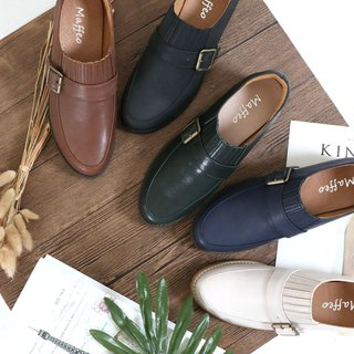 Oxford shoes Chopin Etude European Retro Lok Fu shoes Visual Decoration Soft Q Cushion Heel Wear