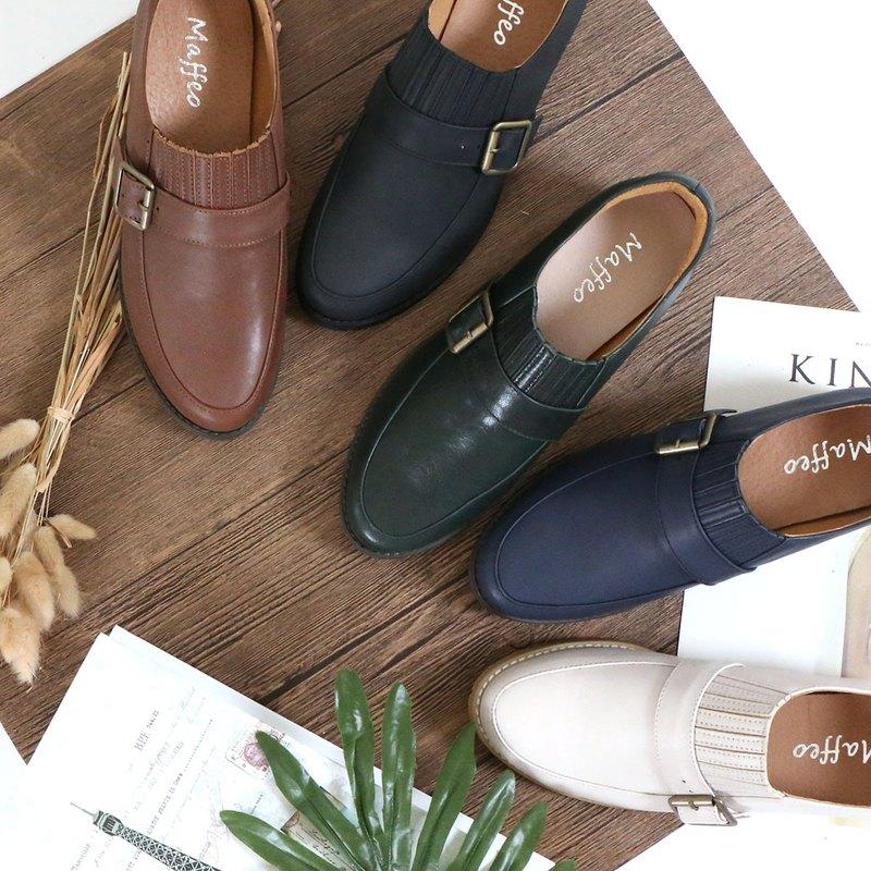 牛津鞋 蕭邦練習曲 歐式復古樂福鞋 視覺修飾 軟Q氣墊底 後跟防磨