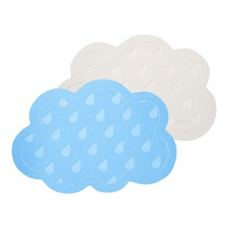 Japanese trico cloud raindrop instant sucking algae land mat (blue / gray)