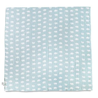 Organic Cotton Gauze Wrap (Forest Bear – Light Blue Green) – BJÖRN MUSLIN BLANKET