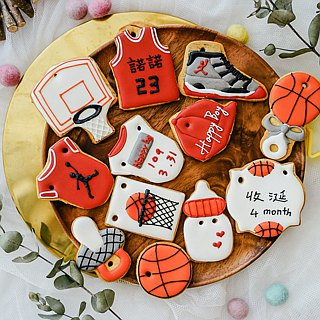 Basketball Baby 8-Pack Sugar Cookies / Receipt Cookies