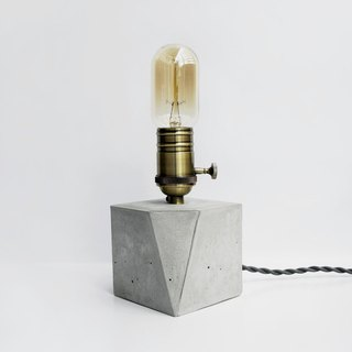 ANGLE Bronze geometry concrete lamp / tablelamp / desk lamp