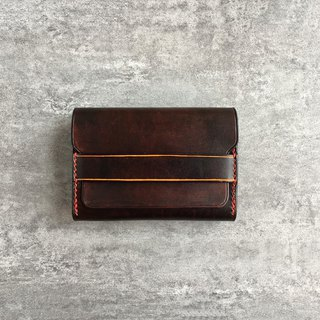 Handmade brown business card case / leather card wallet / Personalized card holder