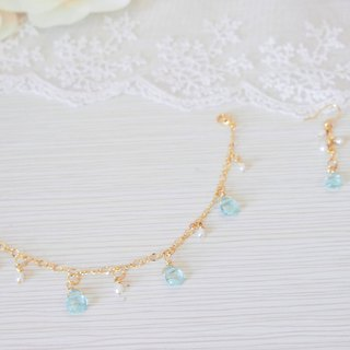 Anniewhere | Jewelry Lucky Bag Cut Crystal Pearl Earrings Bracelet Anklet Valentine's Day