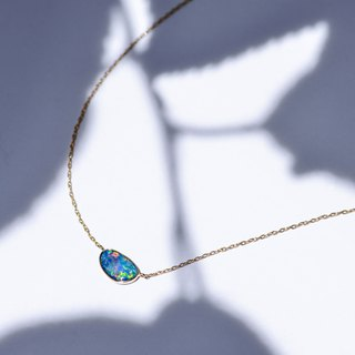 K18YG/K18PG×Opal Azure Blue -Necklace-