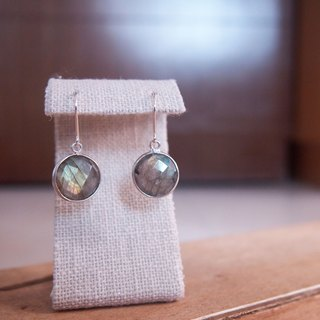 Dangle Labradorite Earrings | Able to change into clip on