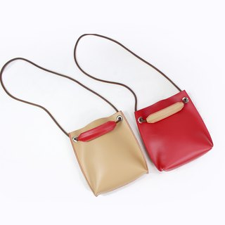 Zemoneni lady mix and match color leather shoulder bag