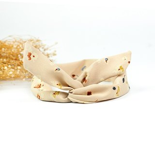 Calf Village Calf Village Handmade Hairline Aluminum Hair Band Multi-Style Headband Retro Elegant {English Small Flower} Light Milk [A-138]