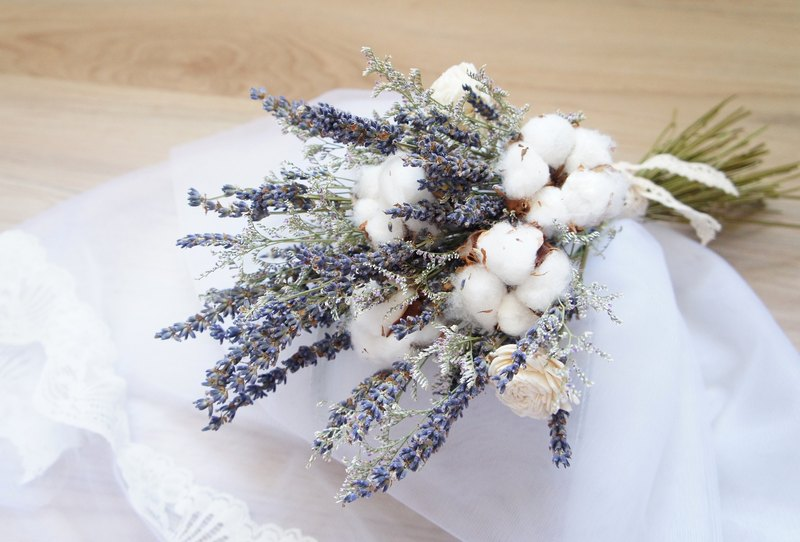 Hand-made dried flowers / non-withered flower wedding flower series ...