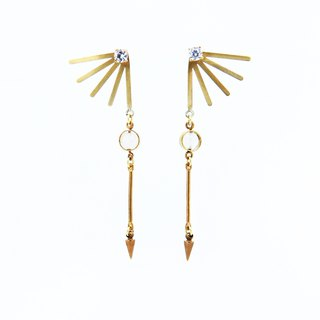 Ray Bloom - Wings Zircon Earrings
