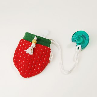 Strawberry baby pacifier beam bag