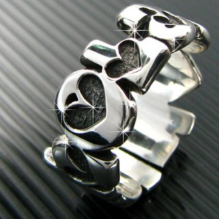 Customized .925 sterling silver jewelry name ring style RSNT00007-