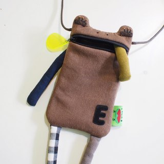 E * group washed without printing mouth water phone bag (coffee system) iphone6. I7 mobile phone bag frog