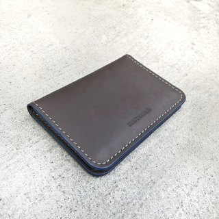 [SIMPLICITY] NameCard Holder / simple business card holder / fog gray brown (grey blue oil side)