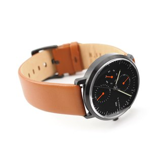 Minimal Watches : MONOCHROME CLASSIC - Limited edition/Leather (Orange)