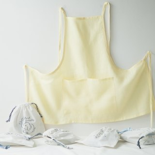 Linen Apron Spring Collection in Yellow Lemon