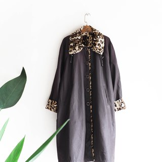 River Water Mountain - Gifu classic flower leopard broken dots antique wool suede jacket wool fur vintage wool vintage overcoat