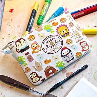 Squly Zip Pouch Cafe Storage Bags Universal Bags Cosmetic Bags Small Bags Clutch