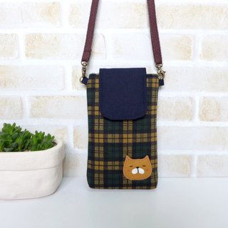 Phone Case - Green Plaid (with strap)