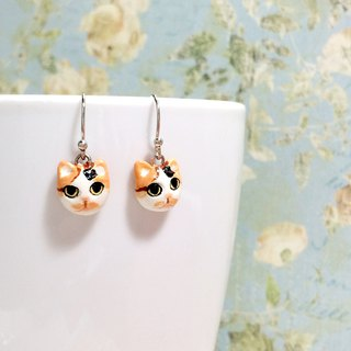Calico Cat Earrings, Dangle & Drop Earrings, cat lover gifts