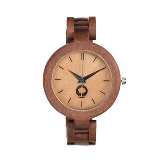 Plantwear - GLAMOUR SERIES – LADIES MASSARANDUBA WOOD TIMBER WRIST WATCH