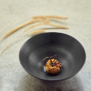 [3, co] water wave series of small bowl (No. 1) - black