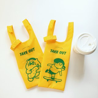 Can accommodate environmentally friendly beverage bags----double-sided printing (Jing Tai Wu Lang Duzi is in)