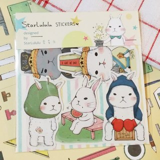 Matte texture sticker / Meng Meng rabbit / 6 groups (5 in)