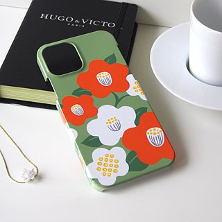 Plastic iPhone case - Japanese modern camellia -