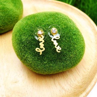 Earrings tiny love