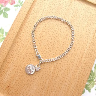 [Glutton Cat] 925 Sterling Silver Bracelet - Handmade Natural Stone Series