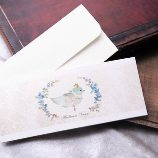 Happy Blue Bird Card / Wedding Card with Envelope