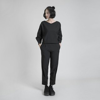 Roaming roaming nine points modeling pants _8AF201_ black