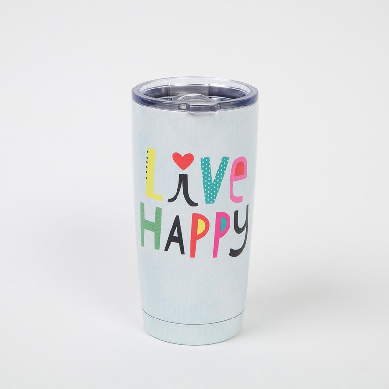 Stainless steel double-layer cup-Live Happy∣WB015