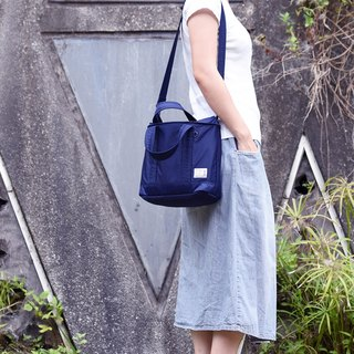 Boeffies Fantastic Classic Lightweight 2way Tote Bag - Navy TOTE BAG
